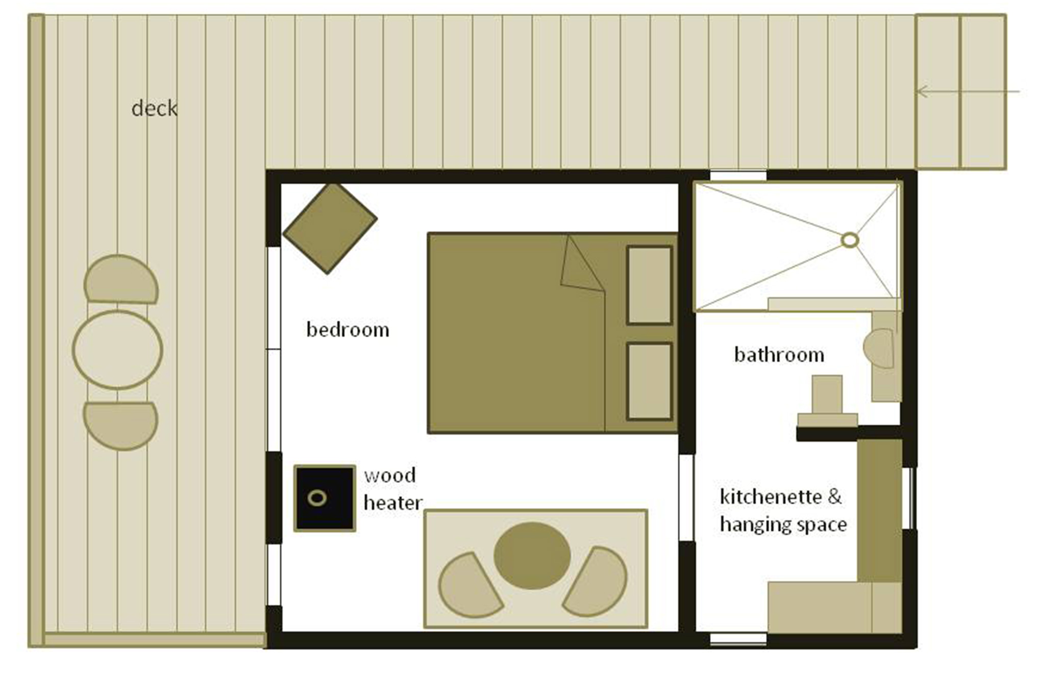Studio 1 Floorplan